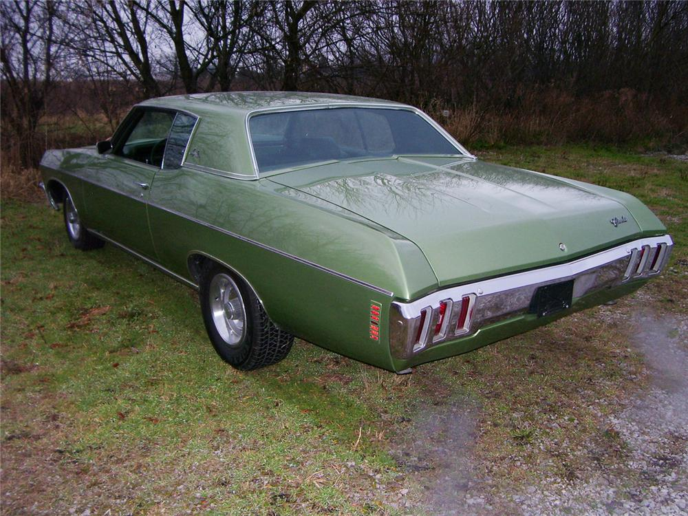 1970 CHEVROLET IMPALA CUSTOM 2 DOOR HARDTOP - Rear 3/4 - 45625