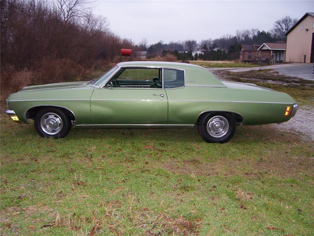 1970 CHEVROLET IMPALA CUSTOM 2 DOOR HARDTOP - Side Profile - 45625