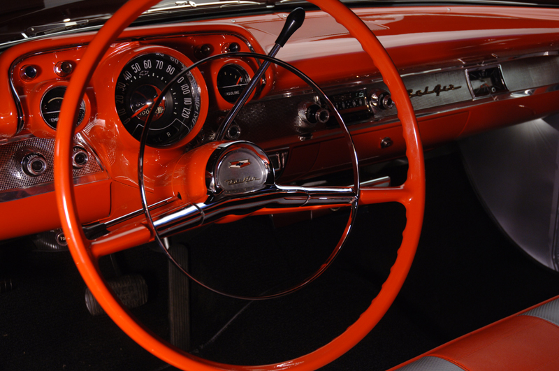 1957 CHEVROLET BEL AIR CONVERTIBLE - Interior - 45745