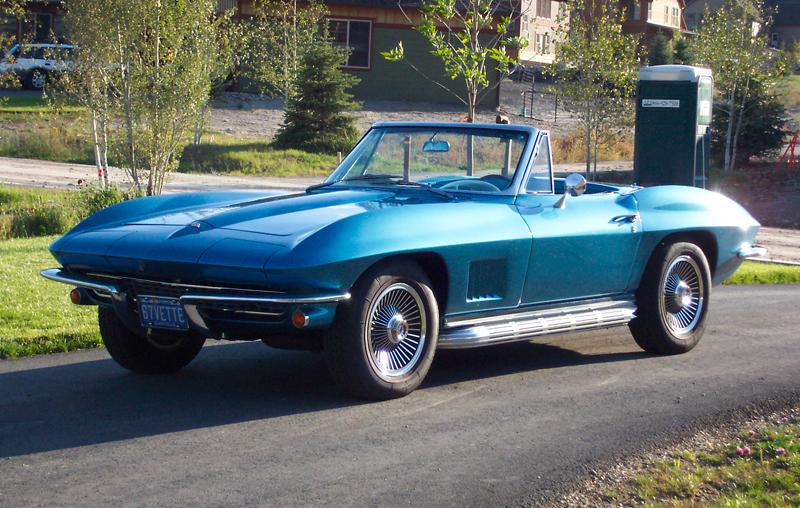 1967 CHEVROLET CORVETTE CONVERTIBLE - Front 3/4 - 45785