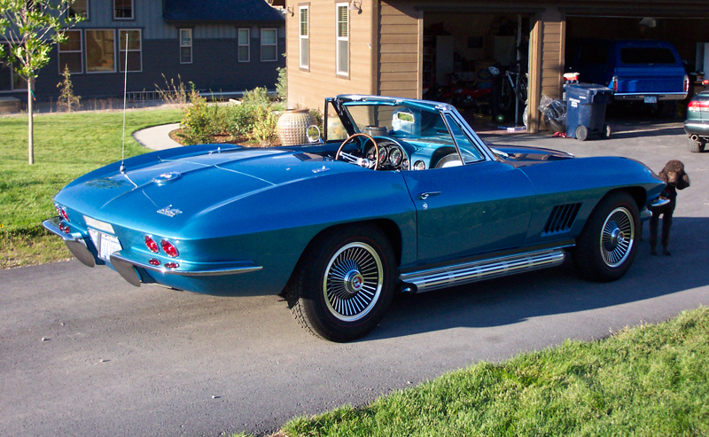 1967 CHEVROLET CORVETTE CONVERTIBLE - Rear 3/4 - 45785