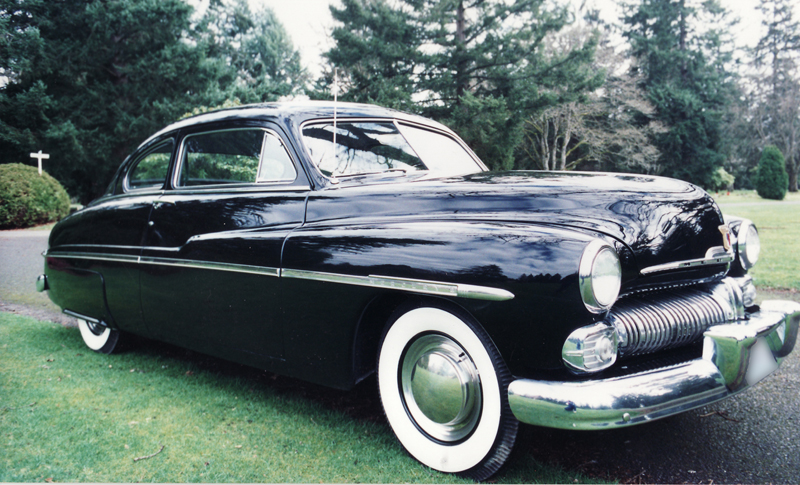 1950 MERCURY 2 DOOR COUPE - Side Profile - 45791