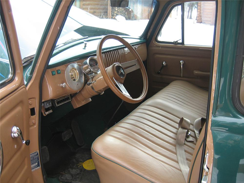 1955 CHEVROLET 5 WINDOW CUSTOM PICKUP - Interior - 45924