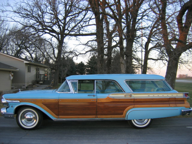 1957 MERCURY CUSTOM STATION WAGON - Side Profile - 46081