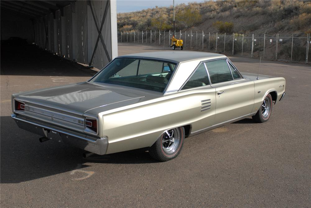 1966 DODGE CORONET 500 2 DOOR HARDTOP - Rear 3/4 - 47217
