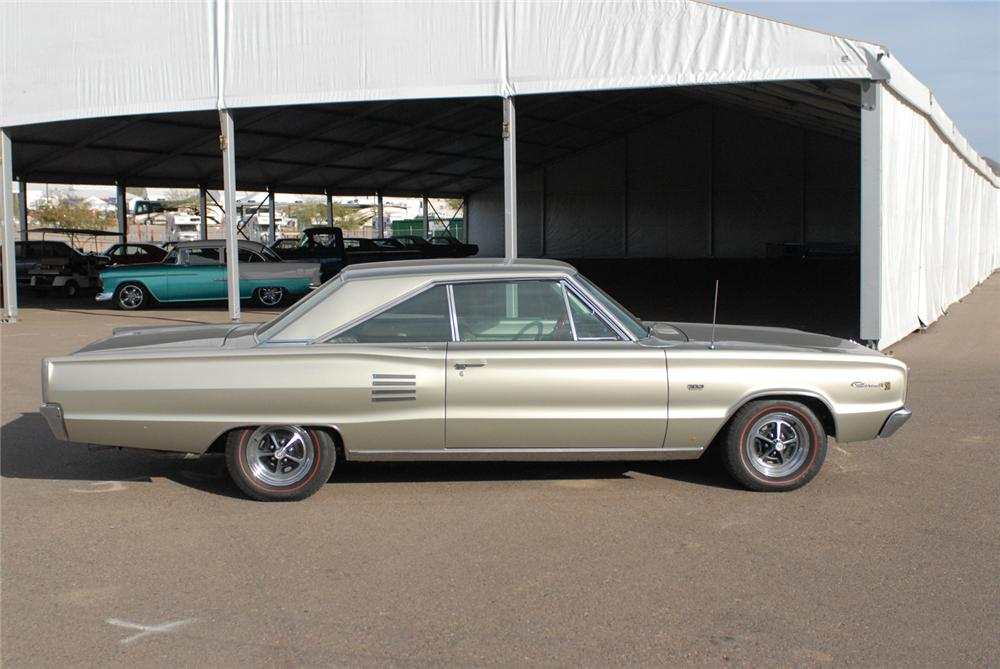 1966 DODGE CORONET 500 2 DOOR HARDTOP - Side Profile - 47217