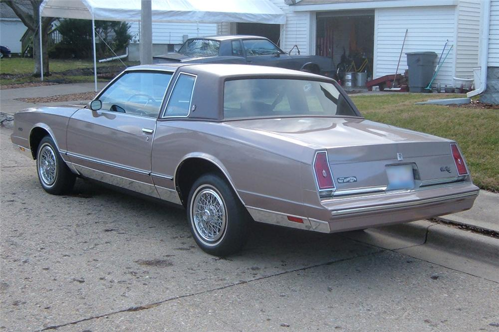 1983 CHEVROLET MONTE CARLO SPORT COUPE - Rear 3/4 - 48919