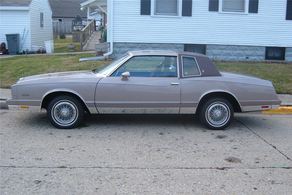 1983 CHEVROLET MONTE CARLO SPORT COUPE - Side Profile - 48919