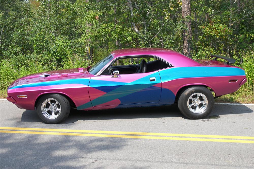 1970 DODGE CHALLENGER R/T CUSTOM 2 DOOR HARDTOP - Side Profile - 48927