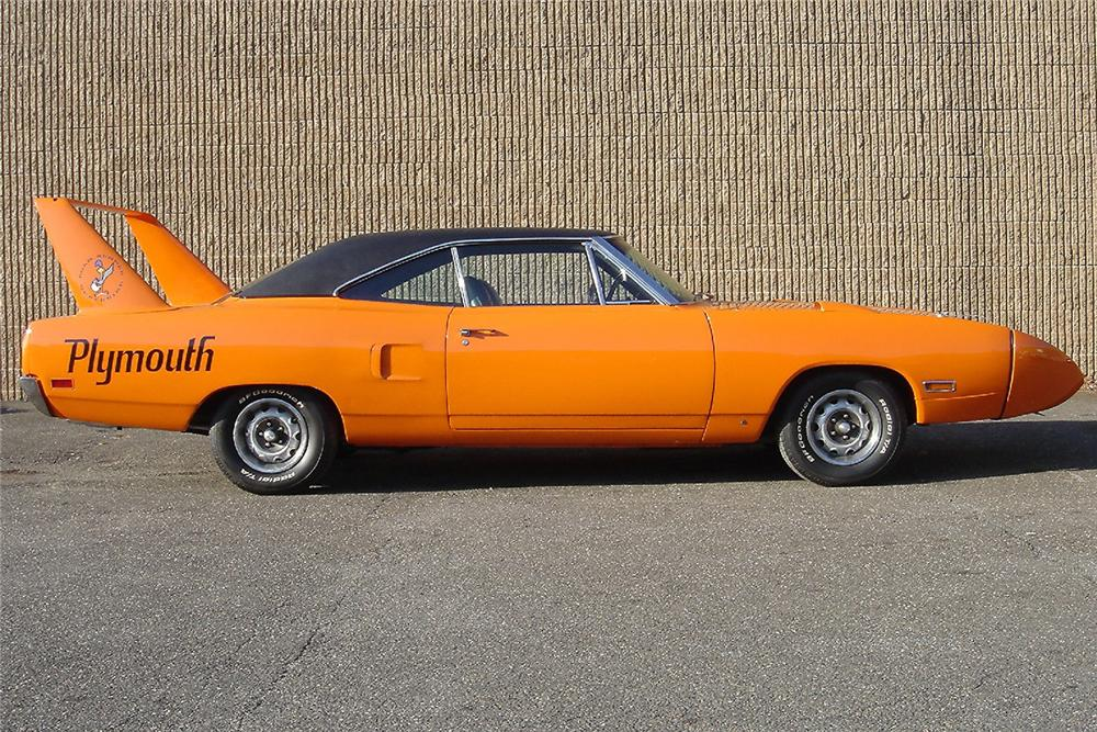 1970 PLYMOUTH SUPERBIRD 2 DOOR HARDTOP - Side Profile - 48947