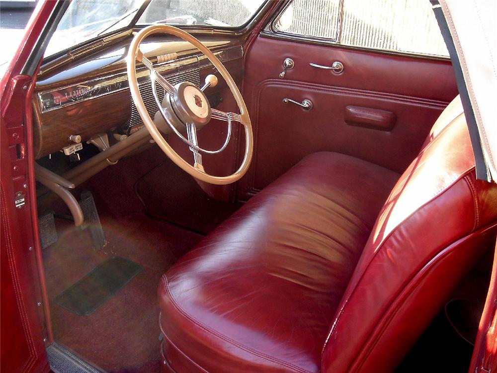 1939 CADILLAC SERIES 61 CONVERTIBLE - Interior - 48949