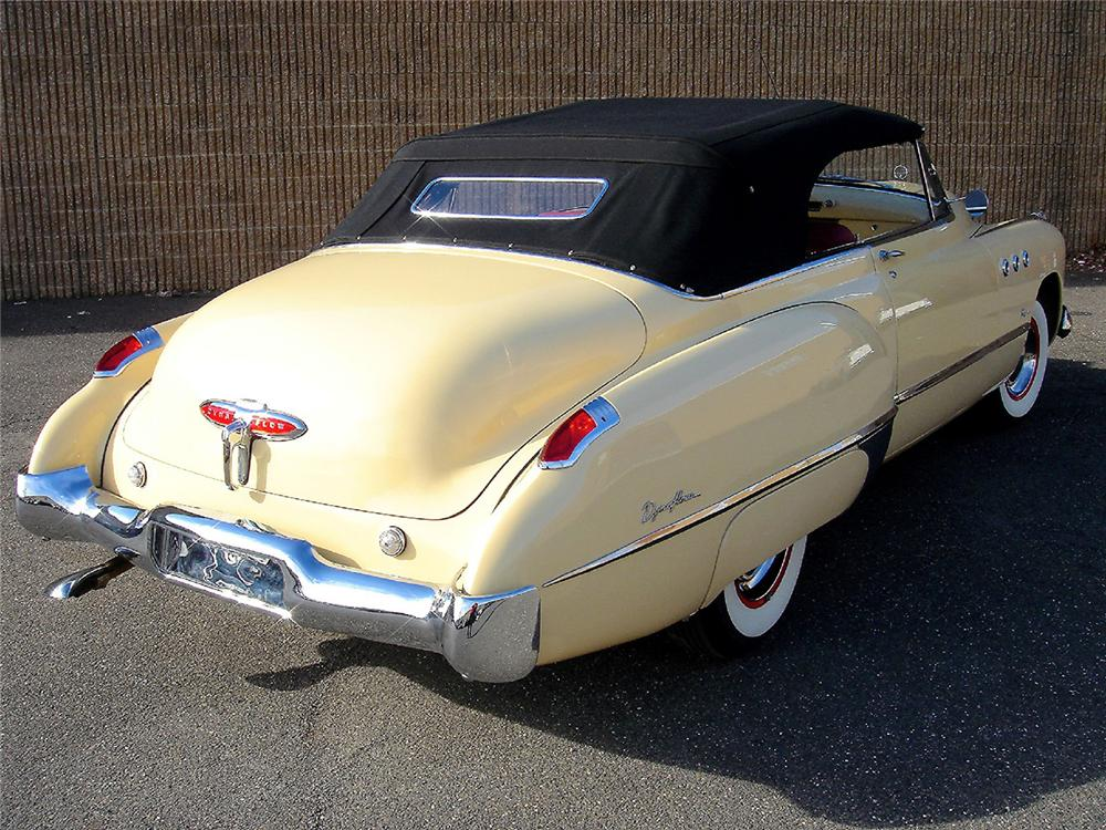 1949 BUICK SERIES 56 C SUPER CONVERTIBLE - Rear 3/4 - 48953