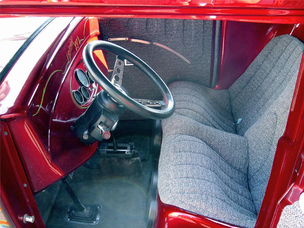 1929 FORD MODEL A CUSTOM HOT ROD COUPE - Interior - 48957