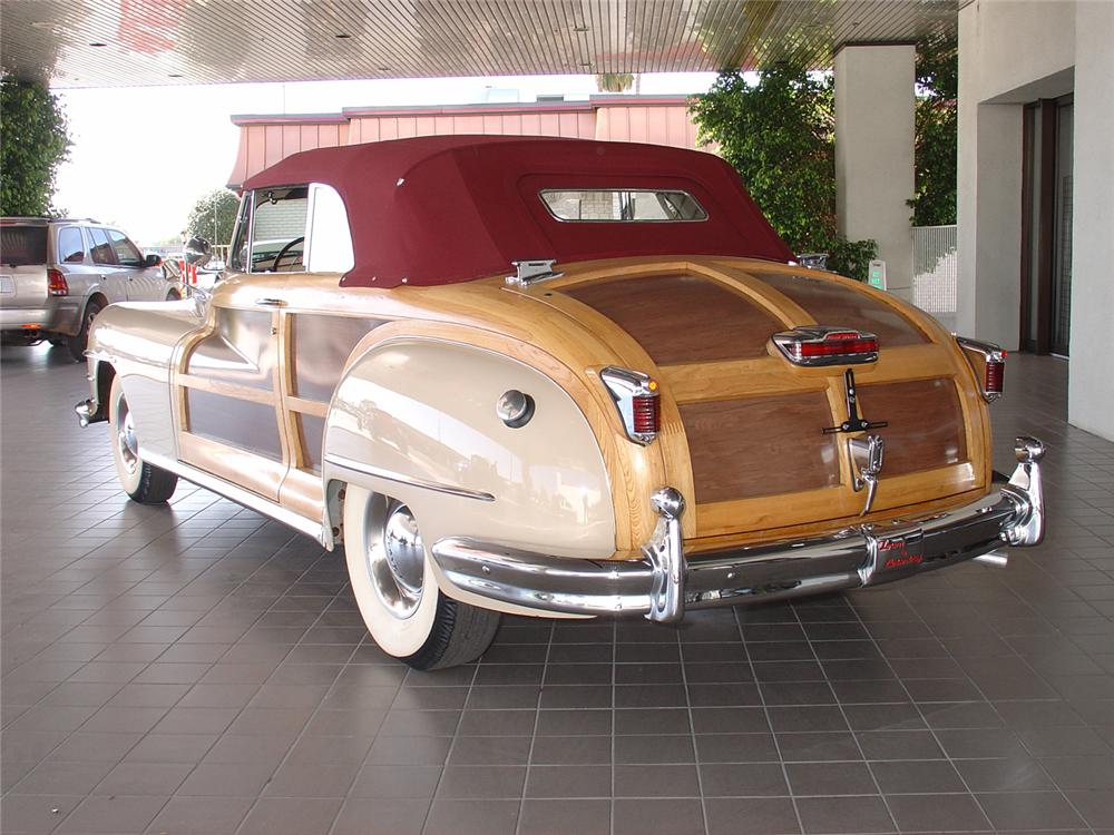 1947 CHRYSLER T/C WOODY CONVERTIBLE - Rear 3/4 - 48987