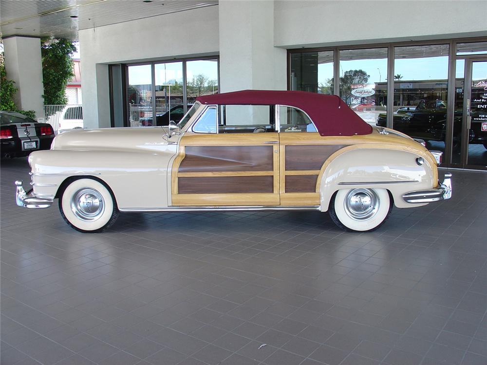 1947 CHRYSLER T/C WOODY CONVERTIBLE - Side Profile - 48987