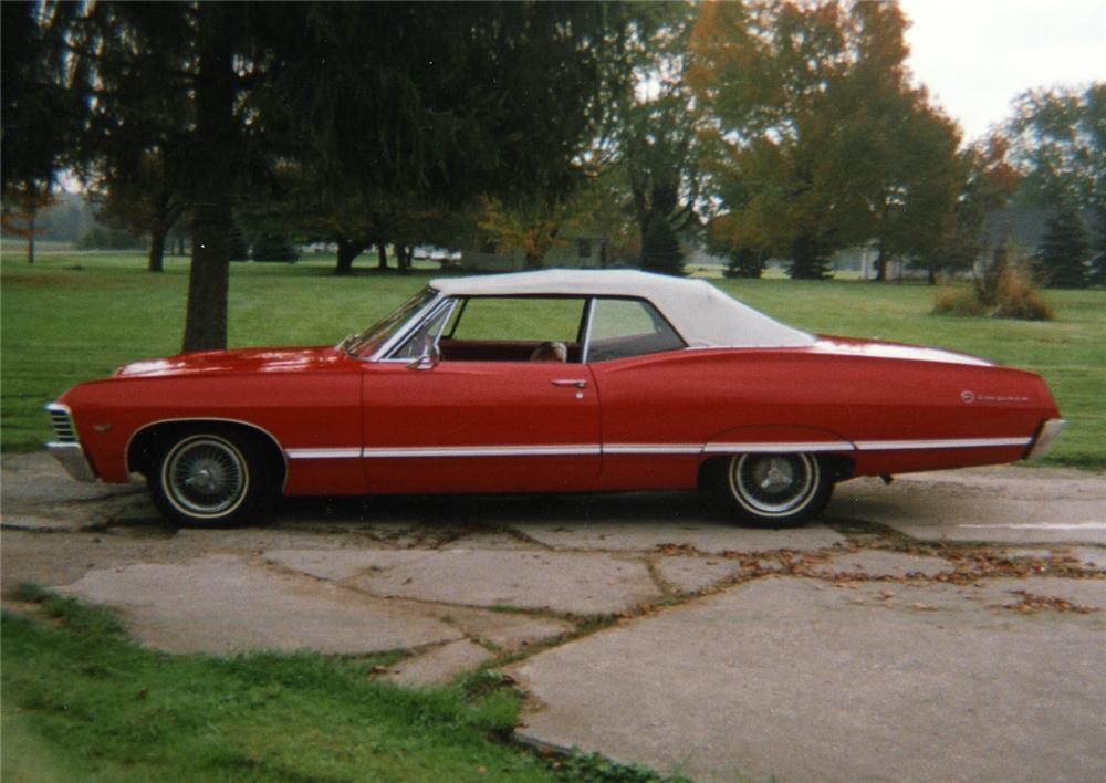 1967 CHEVROLET IMPALA CONVERTIBLE - Side Profile - 49020