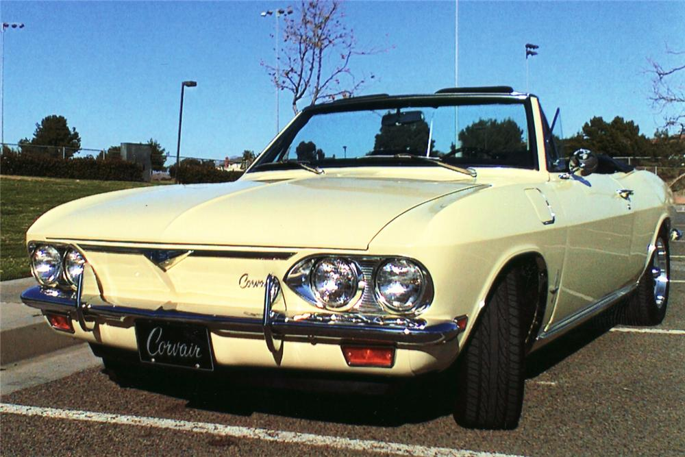 1969 CHEVROLET CORVAIR MONZA CONVERTIBLE - Front 3/4 - 49022