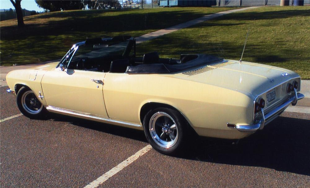 1969 CHEVROLET CORVAIR MONZA CONVERTIBLE - Rear 3/4 - 49022