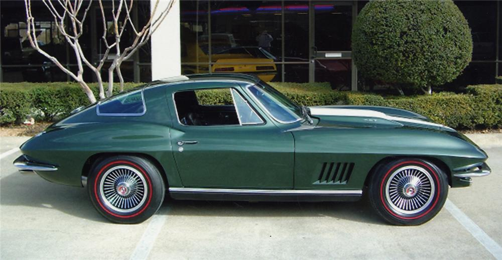 1967 CHEVROLET CORVETTE COUPE - Side Profile - 49039