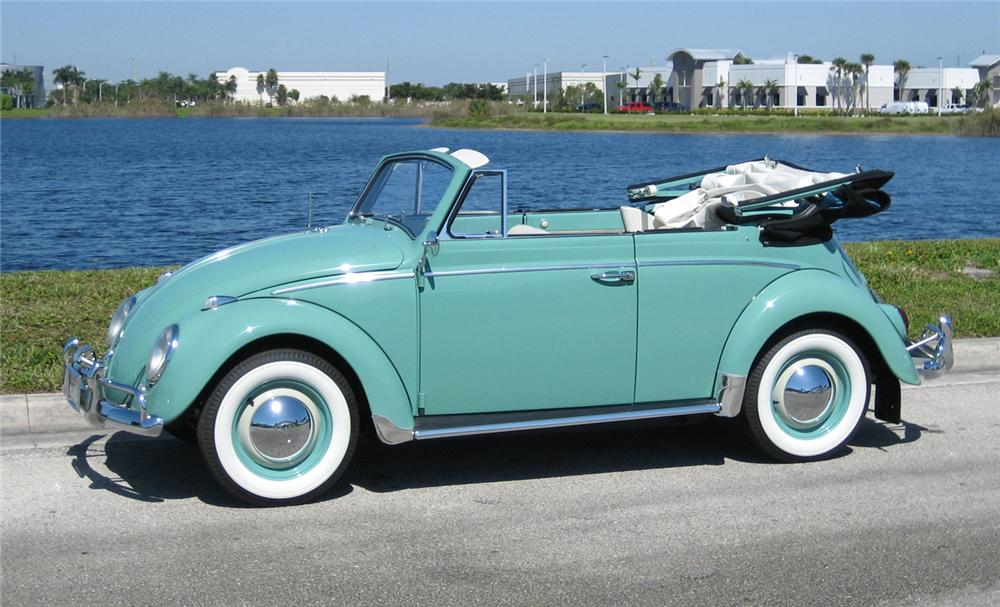 1962 VOLKSWAGEN BEETLE CONVERTIBLE - Side Profile - 49094