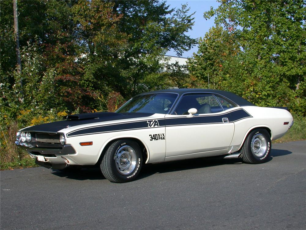 1970 DODGE CHALLENGER T/A 2 DOOR HARDTOP - Side Profile - 49114