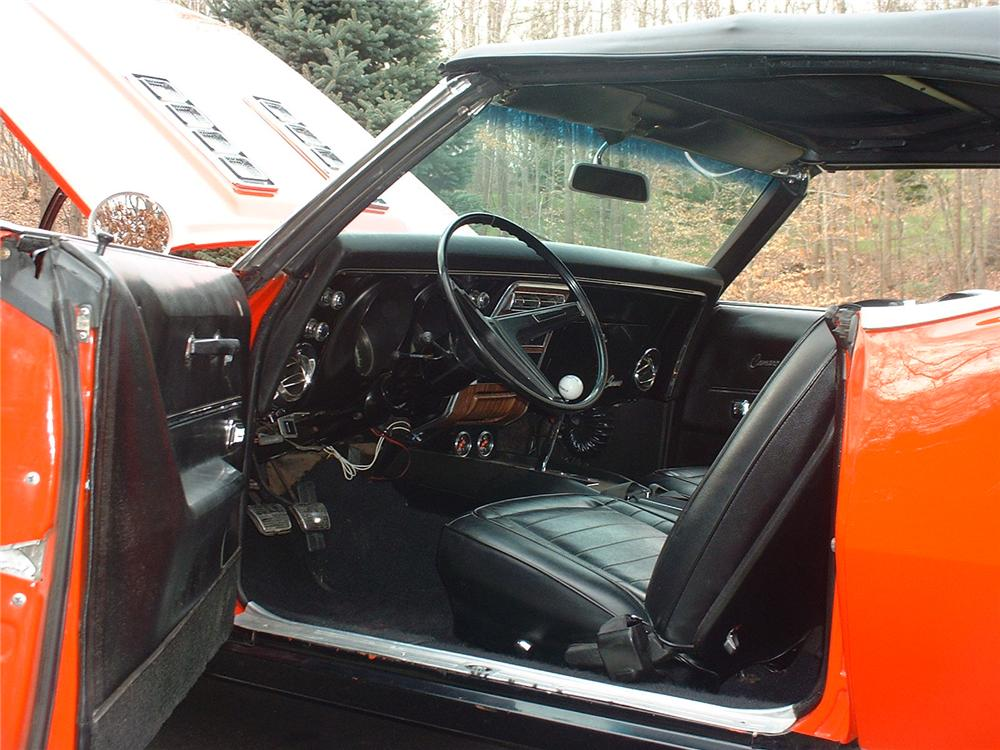 1968 CHEVROLET CAMARO RS/SS CONVERTIBLE - Interior - 49127