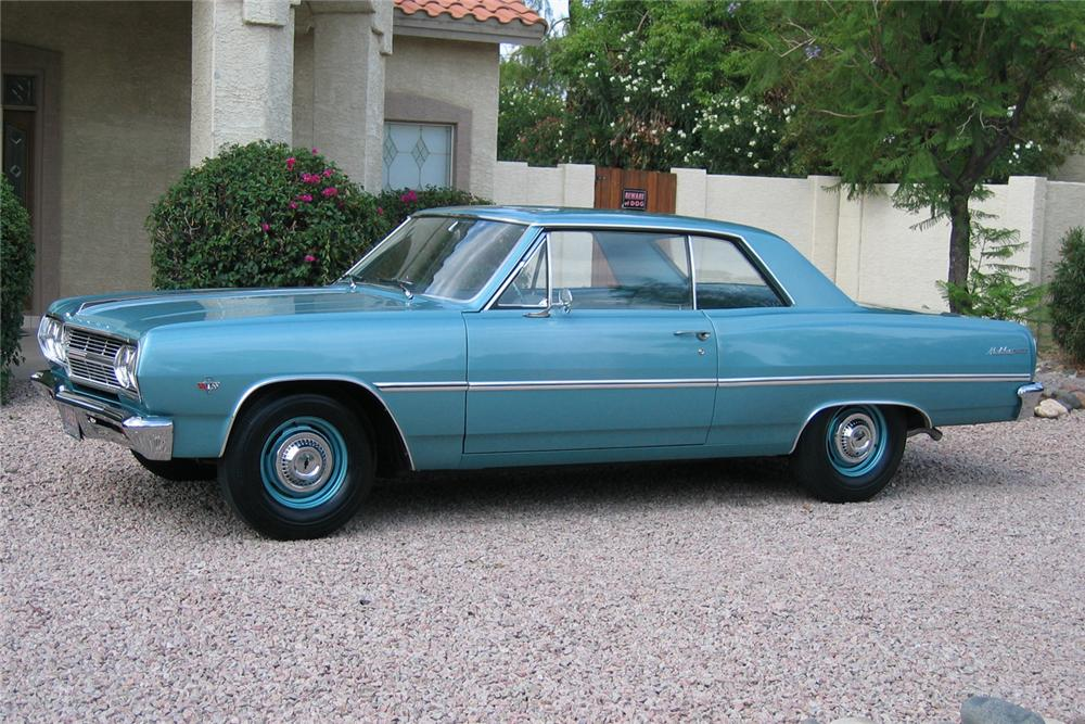 1965 CHEVROLET MALIBU 2 DOOR HARDTOP - Side Profile - 49143