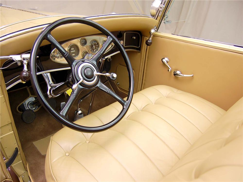 "1931 LINCOLN ""K"" LEBARON CONVERTIBLE - Interior - 49204"