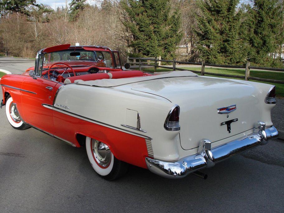 1955 CHEVROLET BEL AIR CONVERTIBLE - Rear 3/4 - 49229