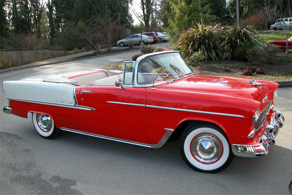 1955 CHEVROLET BEL AIR CONVERTIBLE - Side Profile - 49229