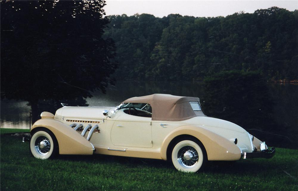 1935 AUBURN 851 BOATTAIL SPEEDSTER RE-CREATION - Rear 3/4 - 49242