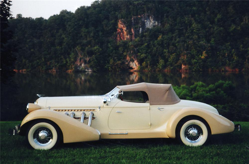 1935 AUBURN 851 BOATTAIL SPEEDSTER RE-CREATION - Side Profile - 49242