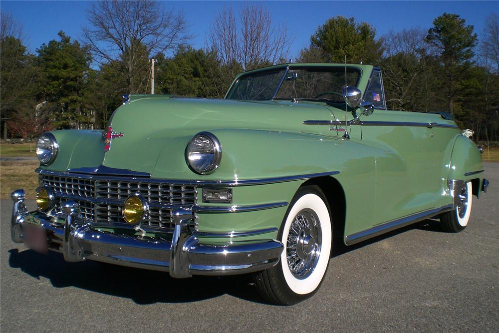 1948 CHRYSLER WINDSOR CONVERTIBLE - Front 3/4 - 49249
