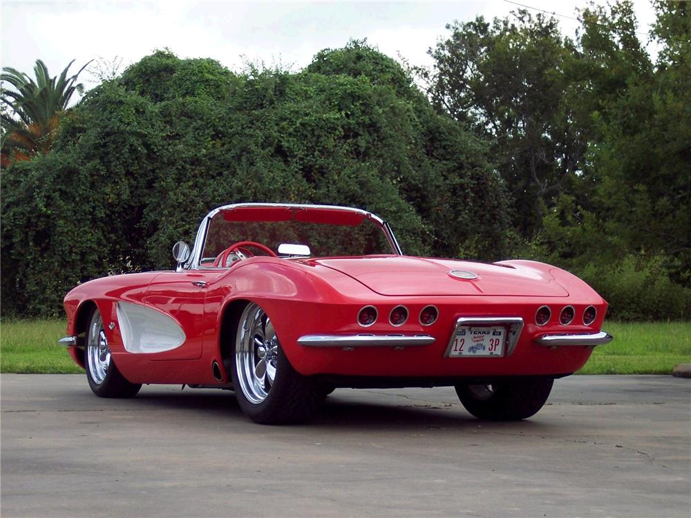 1962 CHEVROLET CORVETTE CUSTOM CONVERTIBLE - Rear 3/4 - 49268