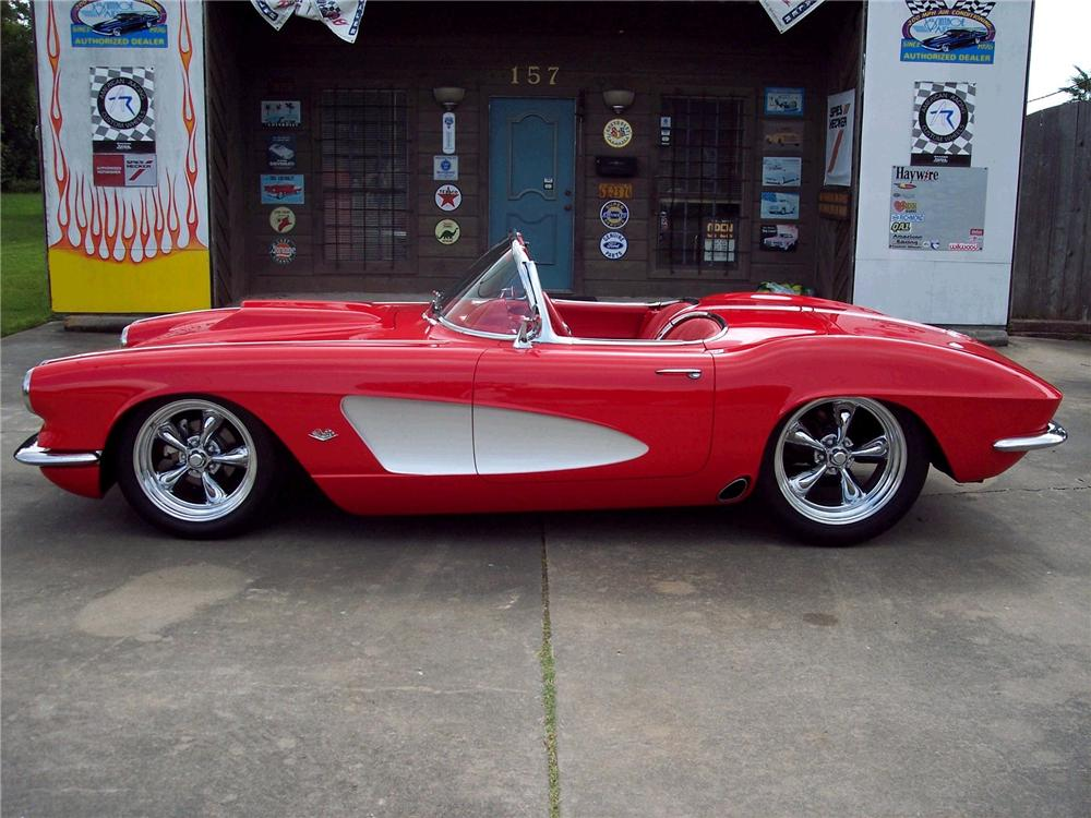 1962 CHEVROLET CORVETTE CUSTOM CONVERTIBLE - Side Profile - 49268