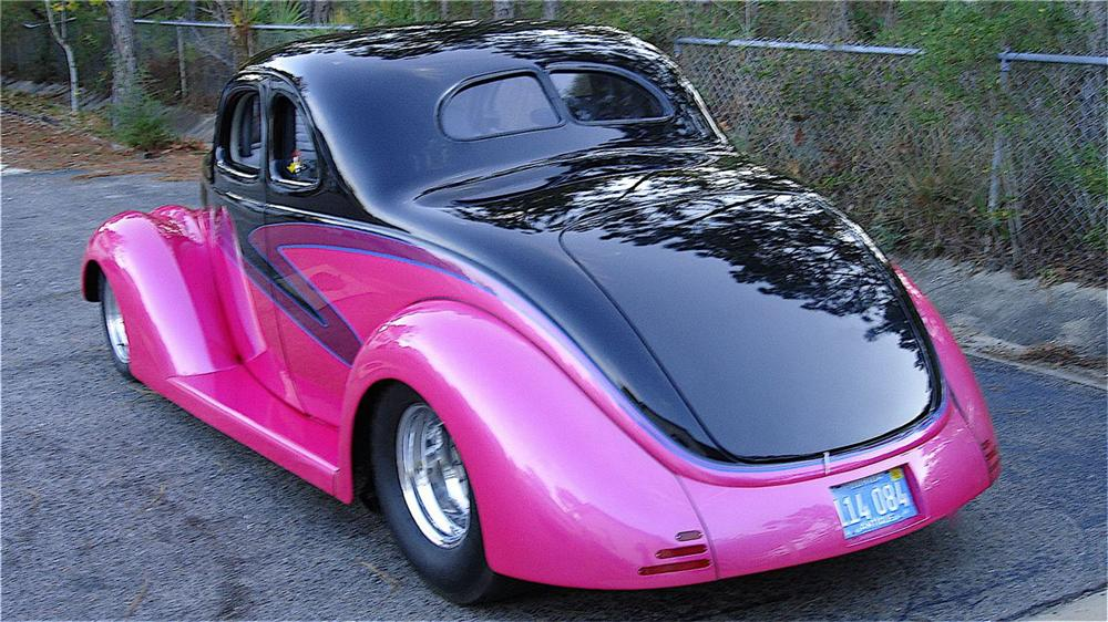 "1937 FORD 5 WINDOW CUSTOM COUPE ""LUCILE"" - Rear 3/4 - 49282"