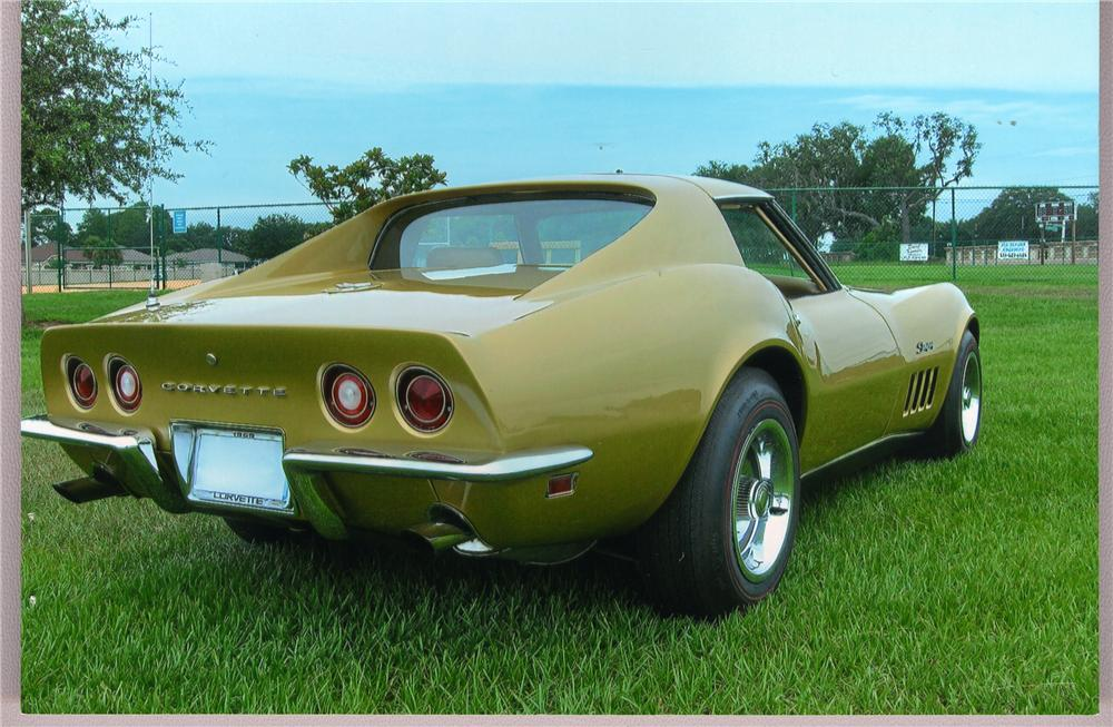 1969 CHEVROLET CORVETTE COUPE - Rear 3/4 - 49284