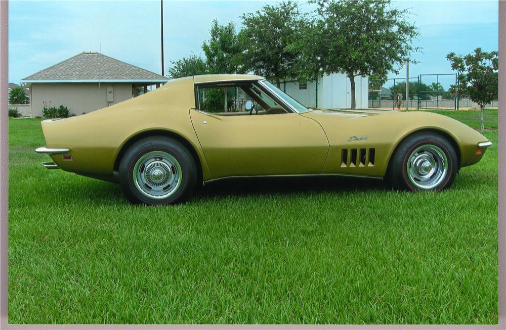 1969 CHEVROLET CORVETTE COUPE - Side Profile - 49284