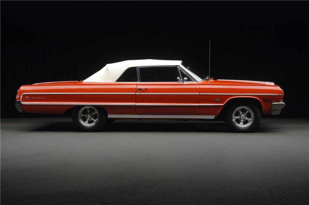1964 CHEVROLET IMPALA CONVERTIBLE - Side Profile - 49290