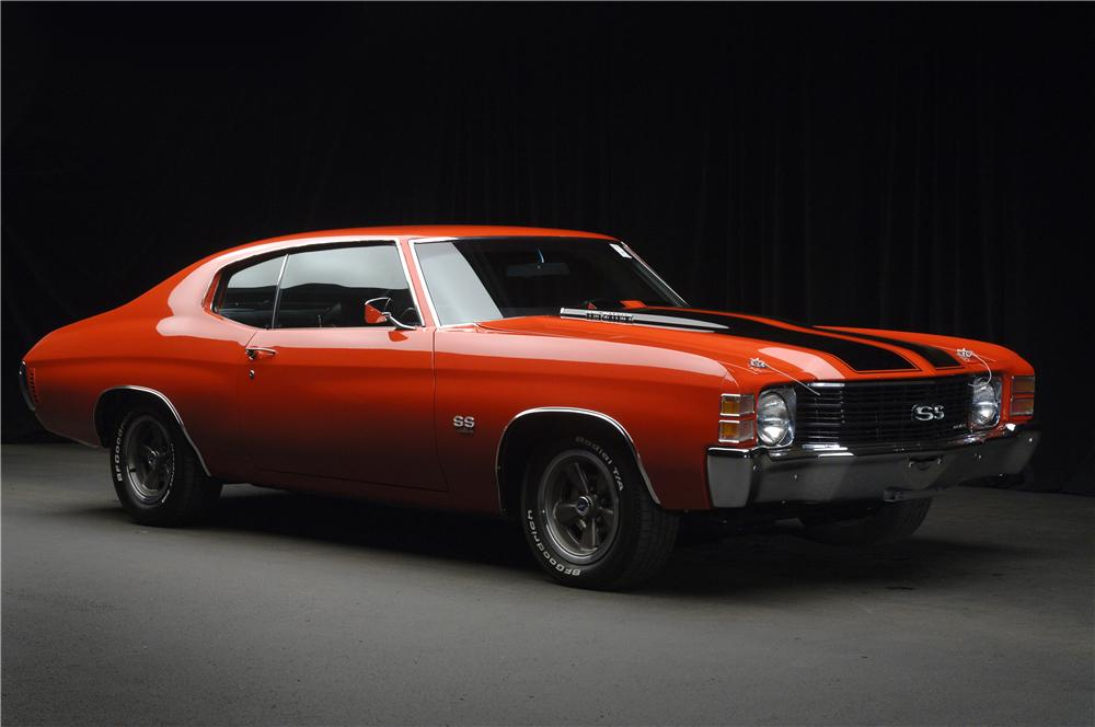 1972 CHEVROLET CHEVELLE SS 454 COUPE - Front 3/4 - 49291