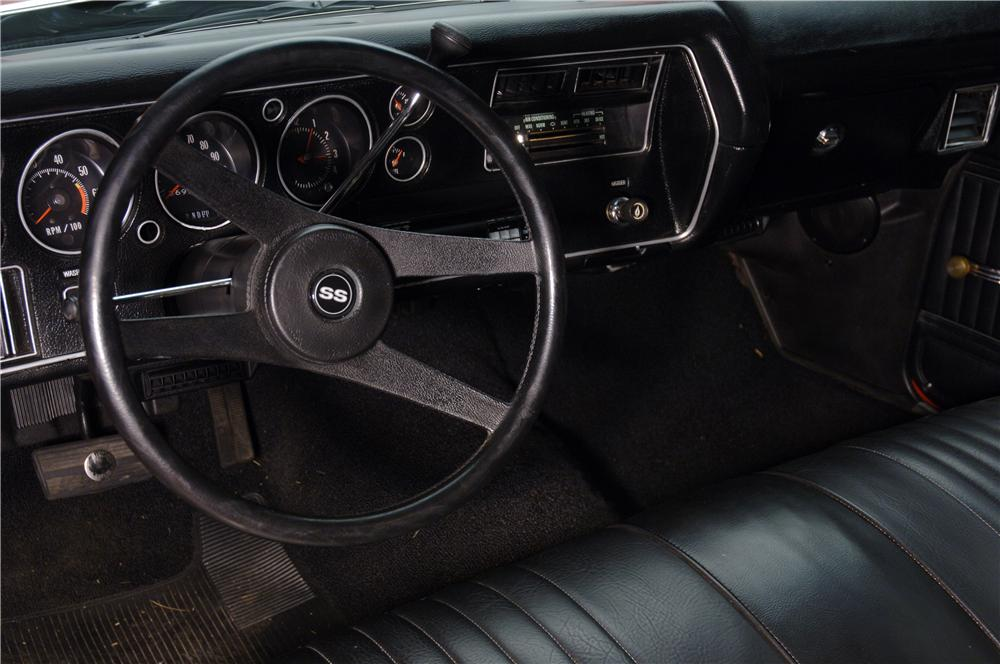 1972 CHEVROLET CHEVELLE SS 454 COUPE - Interior - 49291