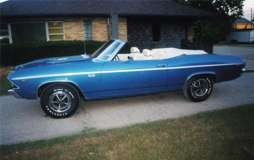 1969 CHEVROLET CHEVELLE SS 396 CONVERTIBLE - Side Profile - 49344