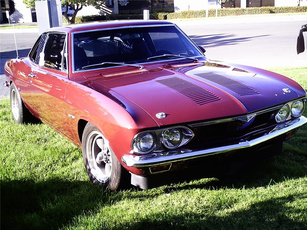 1966 CHEVROLET CORVAIR V-8 COUPE - Front 3/4 - 49366