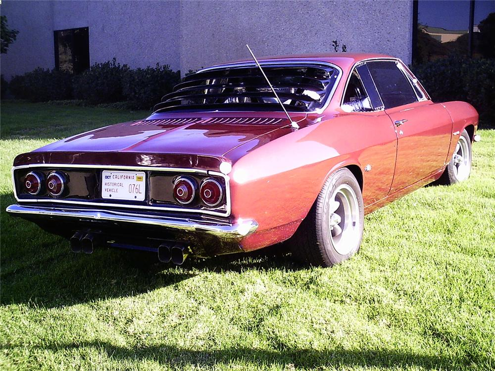 1966 CHEVROLET CORVAIR V-8 COUPE - Rear 3/4 - 49366