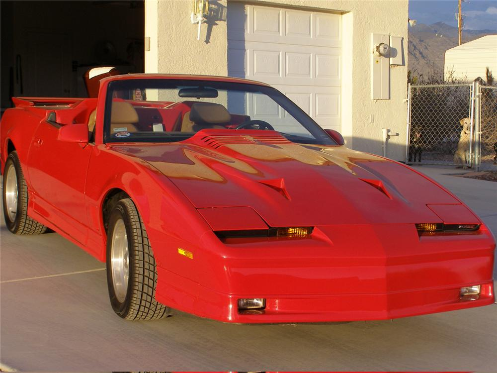 1986 PONTIAC FIREBIRD TRANS AM CONVERTIBLE - Front 3/4 - 49368