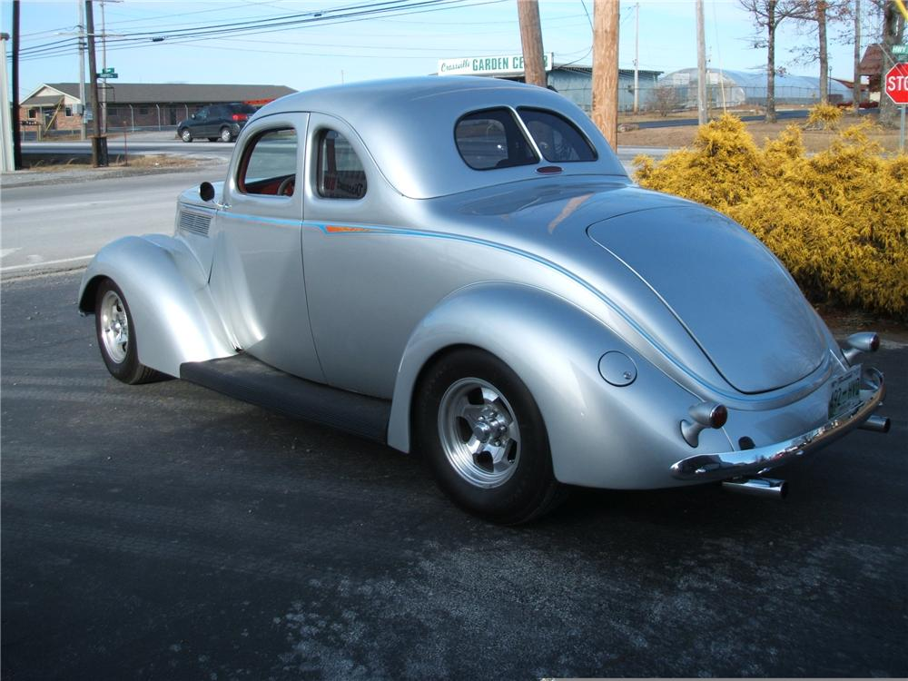 1937 FORD COUPE STREET ROD - Rear 3/4 - 49369