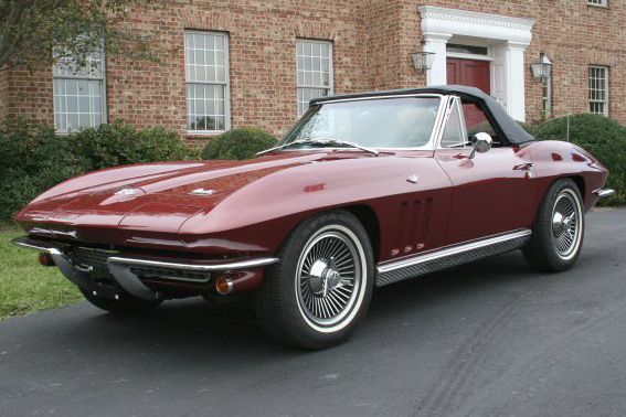 1966 CHEVROLET CORVETTE CONVERTIBLE - Front 3/4 - 49380