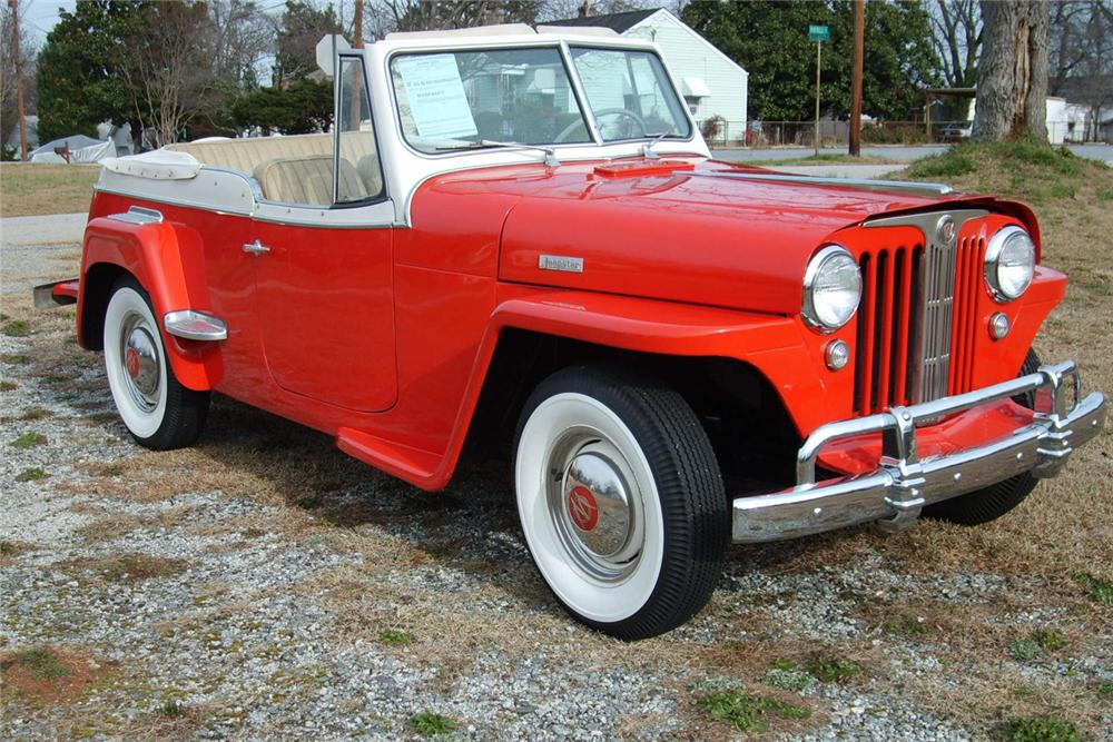 1949 WILLYS OVERLAND JEEPSTER CONVERTIBLE - Front 3/4 - 49401