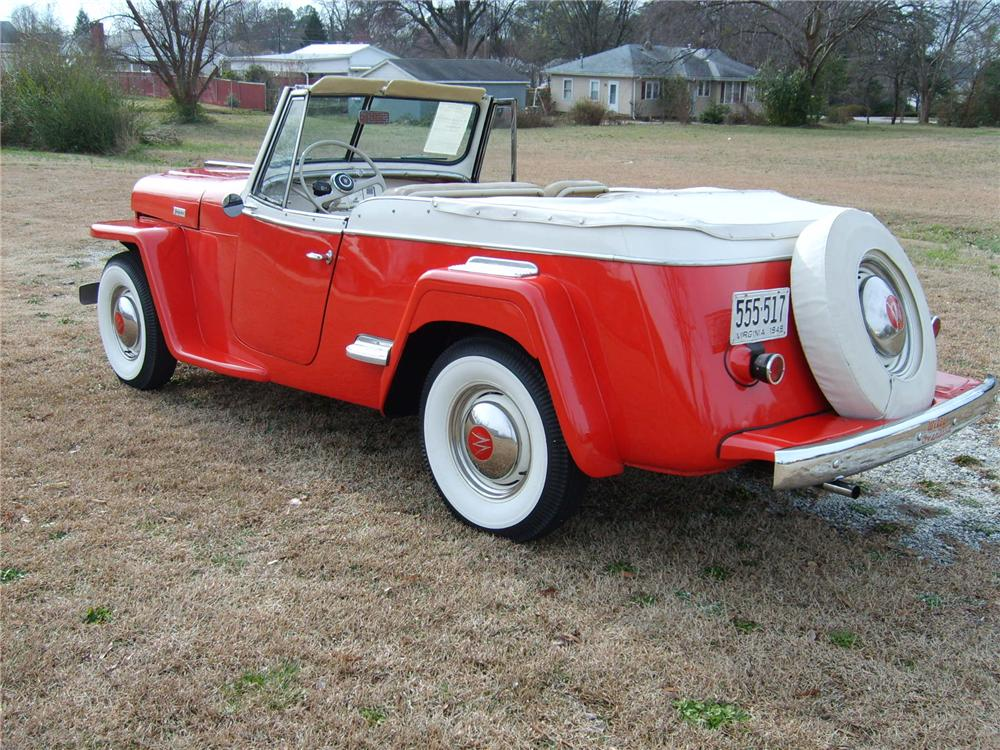 1949 WILLYS OVERLAND JEEPSTER CONVERTIBLE - Rear 3/4 - 49401