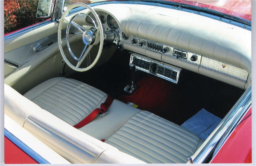 1957 FORD THUNDERBIRD CONVERTIBLE - Interior - 49405